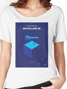 No323 My MULHOLLAND DRIVE minimal movie poster Women's Relaxed Fit T-Shirt