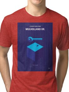 No323 My MULHOLLAND DRIVE minimal movie poster Tri-blend T-Shirt
