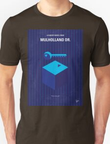 No323 My MULHOLLAND DRIVE minimal movie poster Unisex T-Shirt