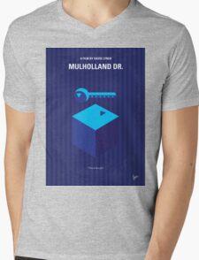 No323 My MULHOLLAND DRIVE minimal movie poster Mens V-Neck T-Shirt