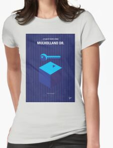 No323 My MULHOLLAND DRIVE minimal movie poster Womens Fitted T-Shirt