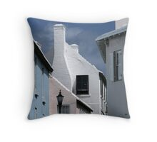 Bermuda Buildings Throw Pillow