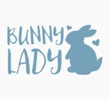 Bunny Lady cute in Blue One Piece - Short Sleeve