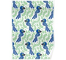 The Hyacinth Macaw Pattern Poster