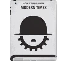 No325 My MODERN TIMES minimal movie poster iPad Case/Skin