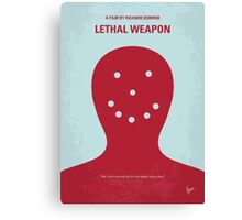 No327 My Lethal Weapon minimal movie poster Canvas Print