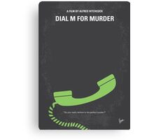 No328 My Dial M for Murder minimal movie poster Canvas Print