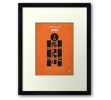 No330 My SPEED minimal movie poster Framed Print