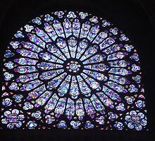 Vitrail au cathedrale Notre Dame de Paris by ruthgeorge