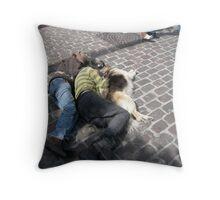 Homeless Trio Throw Pillow