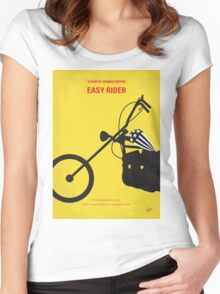 No333 My EASY RIDER minimal movie poster Women's Fitted Scoop T-Shirt