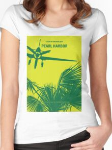 No335 My PEARL HARBOR minimal movie poster Women's Fitted Scoop T-Shirt