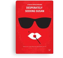 No336 My desperately seeking susan minimal movie poster Canvas Print