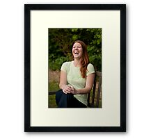 Fun and Laughter in the Garden. Framed Print