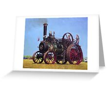 steam traction engine Ransomes Sims and Jefferies General Purpose Engine Greeting Card