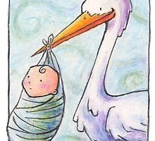 Baby Delivery Card by Ine Spee
