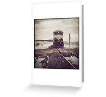 """Oncoming Train"" Greeting Card"