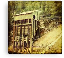 """Old Mining Building"" Canvas Print"