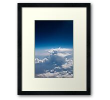 land and space Framed Print
