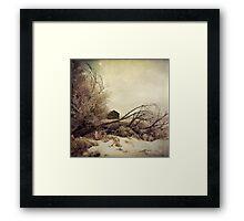 """Winter Barn"" Framed Print"