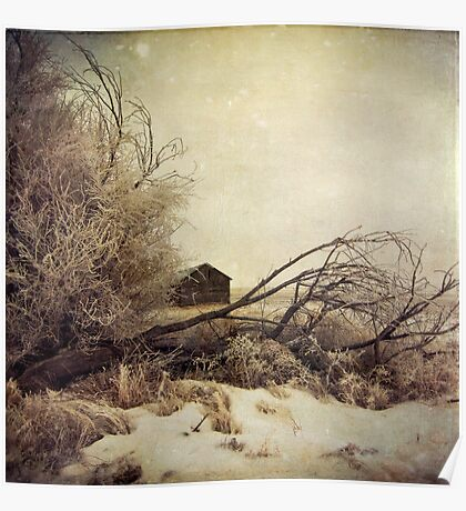 """Winter Barn"" Poster"