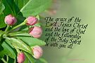 Triune God Blessing  ~ 2 Cor 13:14 by Robin Clifton