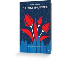 No340 My The Fault in Our Stars minimal movie poster Greeting Card