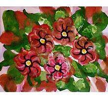 Abstract Floral #2, watercolor Photographic Print