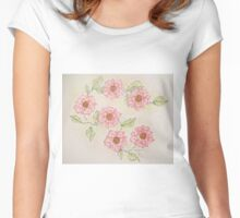 Old fashioned rose 2 Women's Fitted Scoop T-Shirt