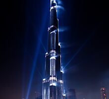 Burj Khalifa Highlighted by Dawnmac