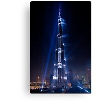Burj Khalifa Highlighted Canvas Print