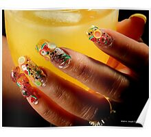 Fruity Nails Poster