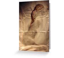 she crumpled like silk Greeting Card