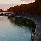 River View, Just Before Sunset (Rome, Italy) by Lori  Heiss