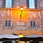 Caffe at Dusk - Piazza Trastavere (Rome, Italy) by Lori  Heiss