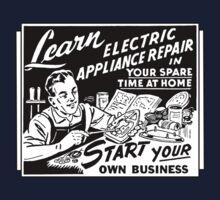 Vintage Ad - Learn Appliance Repair Kids Tee