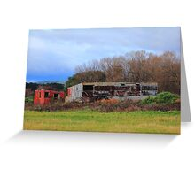 Rustic Farm Sheds Greeting Card