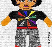 Theda, The Sunshine Vamp Rag Doll by Deborah Lazarus