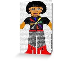 Theda, The Sunshine Vamp Rag Doll Greeting Card