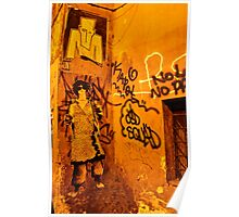 Graffiti in Alley (Rome, Italy) Poster