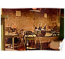 Old Woman in Wine Bar (Rome, Italy) Poster