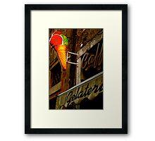 Gelateria Sign (Rome, Italy) Framed Print