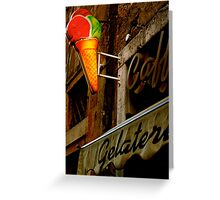 Gelateria Sign (Rome, Italy) Greeting Card