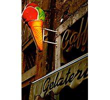 Gelateria Sign (Rome, Italy) Photographic Print