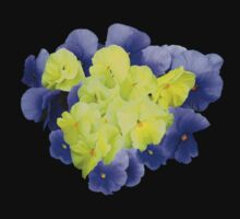Yellow and Purple Pansy Heart by Susan Savad