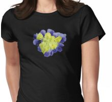 Yellow and Purple Pansy Heart Womens Fitted T-Shirt