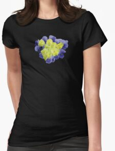 Yellow and Purple Pansy Heart T-Shirt