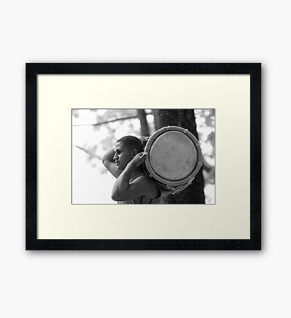 tam-tam Framed Print