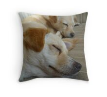 Sleepy sleepers :D Throw Pillow