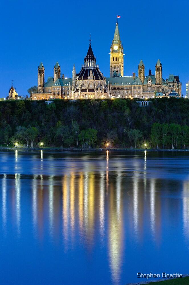 Canadian Parliament - Dusk by Stephen Beattie
